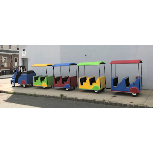 Electric indoor Trackless Train Rental detroit Michigan