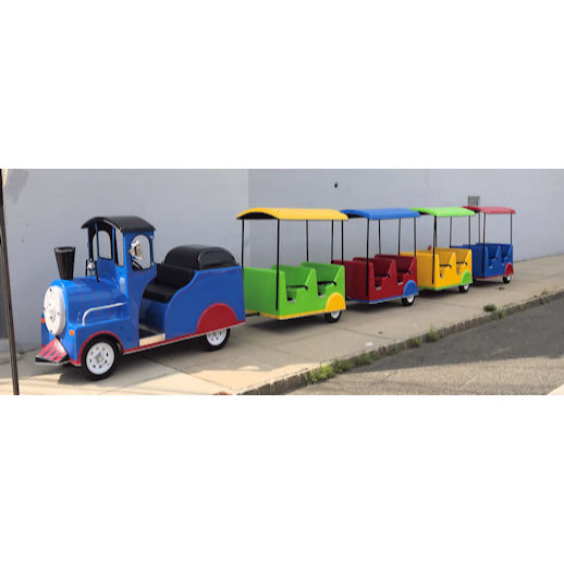 Electric indoor Trackless Train carnival ride Rental Michigan