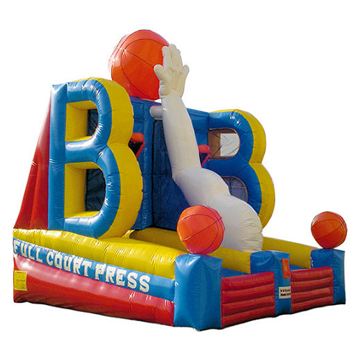 Full Court Press basketball sports interactive infltable party michigan moonwalk rental