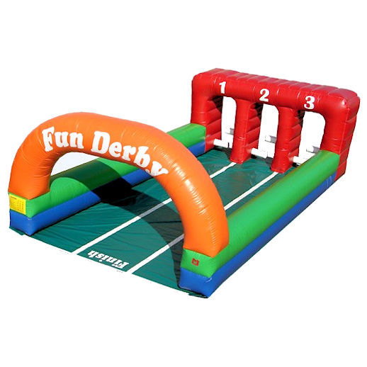 Fun Derby Horse Race Pony Hops hippity hop horses interactive inflatable party moonwalk rental michigan