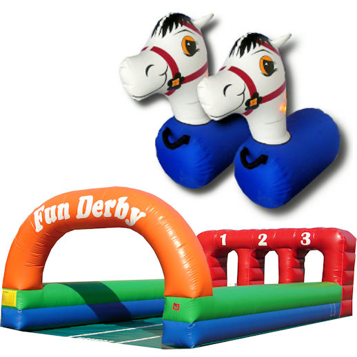 Fun Derby Horse Race Pony Hops interactive inflatable party moonwalk rental michigan