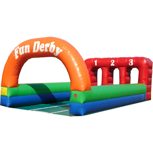 Fun Derby Horse Race interactive inflatable party moonwalk rental michigan