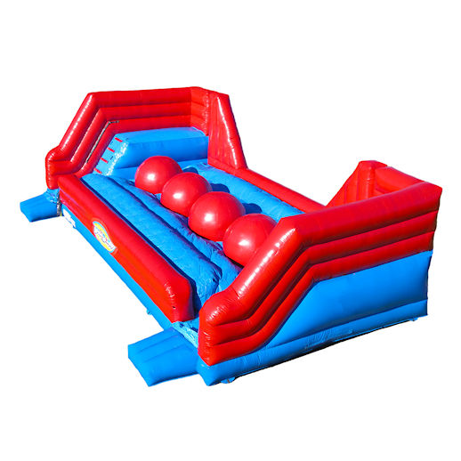 Giant Big Red Balls Wipe Out Leaps Bounds inflatable interactive game rental michigan