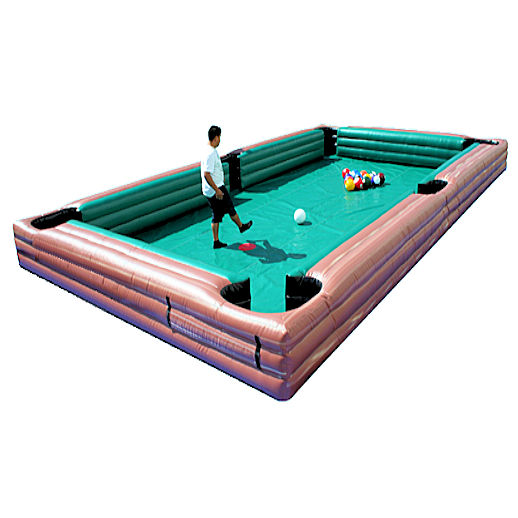 Giant Hiuman Billiards soccer pool inflatable interactive game rental michigan
