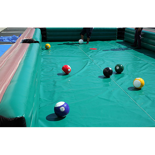 Giant Hiuman soccer pool Billiards inflatable interactive game rental michigan