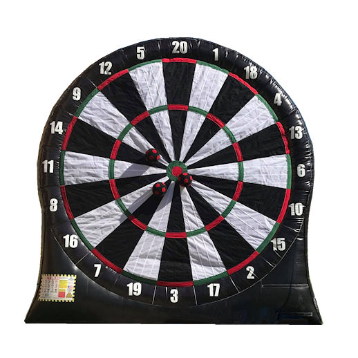 Giant Soccer Velcro Darts Dartboard inflatable interactive carnival game party rentals michigan