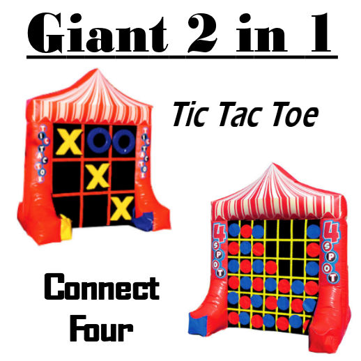 Giant connect four 4 spot tic tac toe inflatable carnival game rental michigan