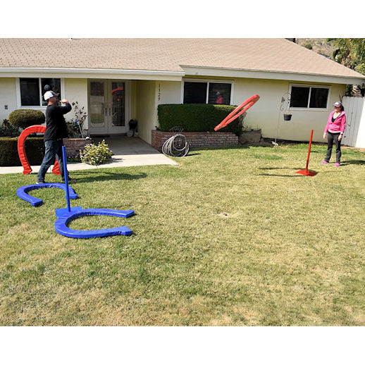 Giant horse shoes carnival games backyard games party rental michigan