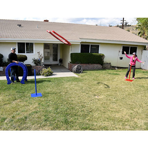 Giant horse shoes carnival games backyard games party rentals michigan