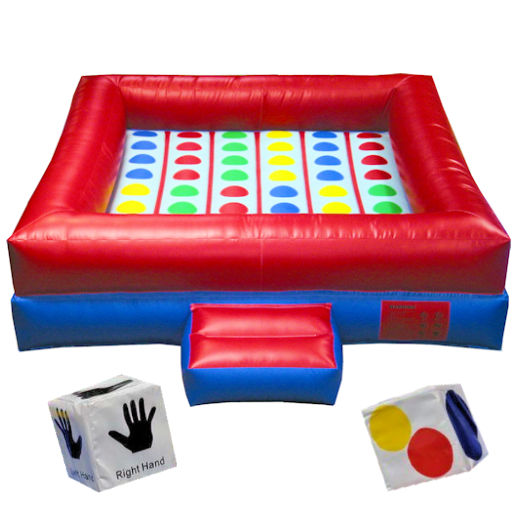 Giant inflatable Twister interactive party moonwalk rental michigan