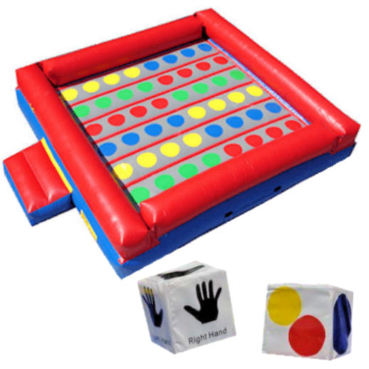 Giant inflatable Twister interactive party rental michigan