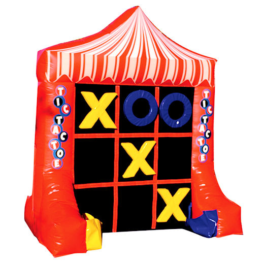Giant tic tac toe inflatable carnival game rental michigan
