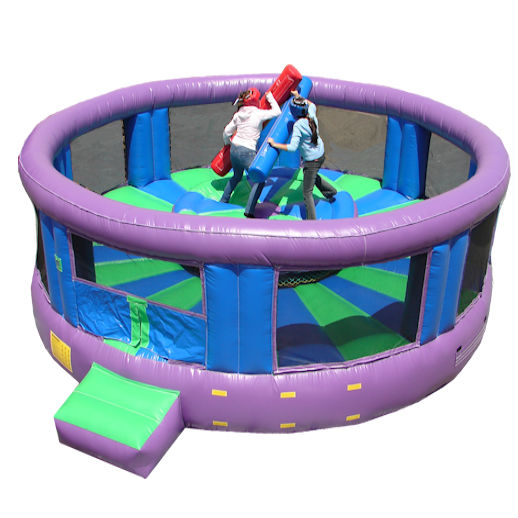 Gladiator Arena Jousting interactive inflatable party rental moonwalk michigan