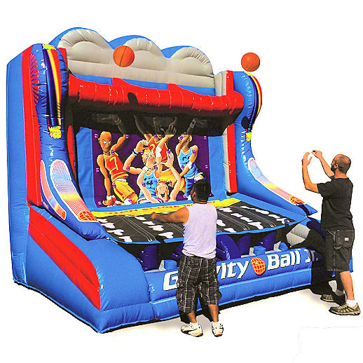 Gravity Ball Jr basketball inflatable Interactive carnival game bounce house moonwalk party rental michigan