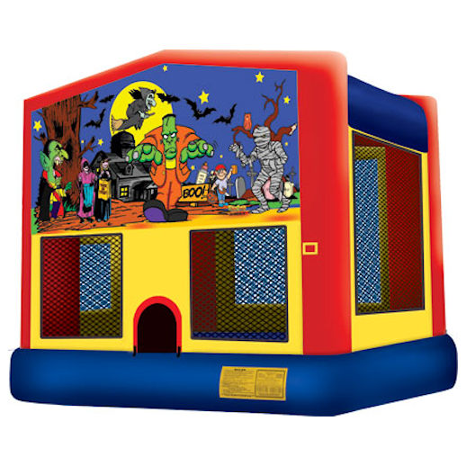 Halloween inflatable bounce house moonwalk party rental michigan