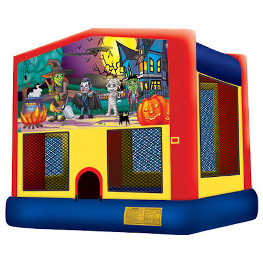 Happy Hauntings inflatable bounce house moonwalk party rental michigan