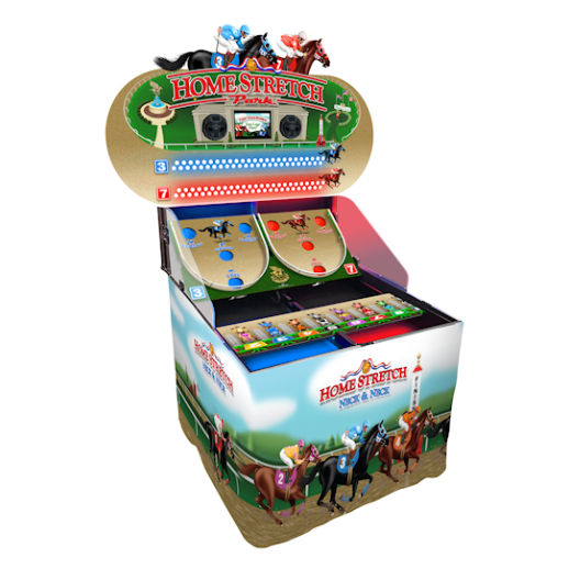 Home Stretch Arcade horse racing skill game rental detroit michigan