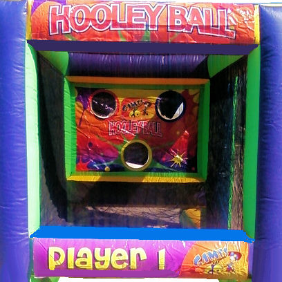 Hooley Ball Dodgeball interactive inflatable bounce house michigan moonwalk party rental