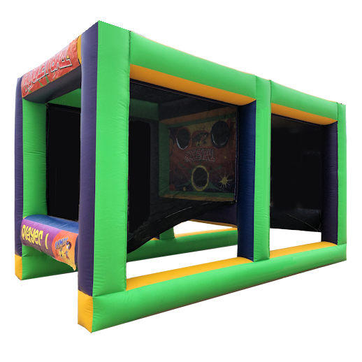Hooley Ball Dodgeball interactive inflatable bounce house moonwalk rental michigan