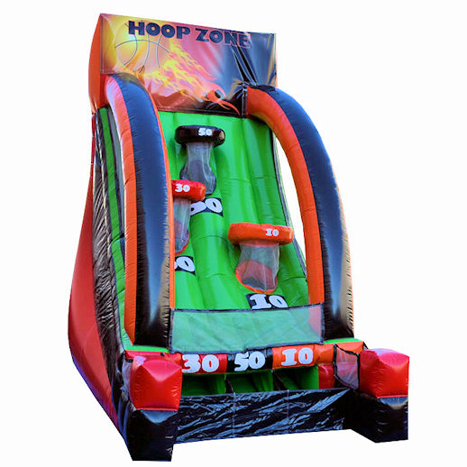 Hoop Zone basketball inflatable interactive game party rental michigan