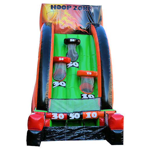 Hoop Zone basketball inflatable interactive game rental michigan