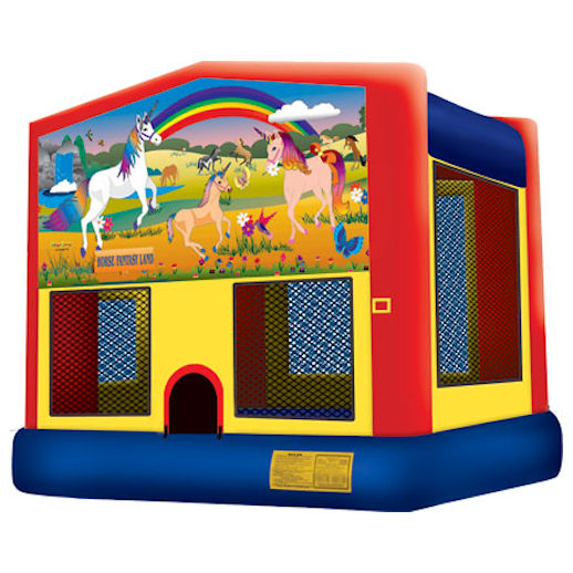 Horse Fantasy Unicorn inflatable bounce house moonwalk party rental michigan