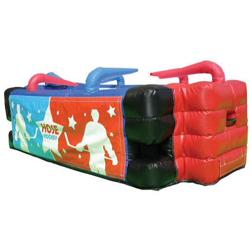 Hose Hockey Interactive inflatable game bounce house michigan moonwalk party rental