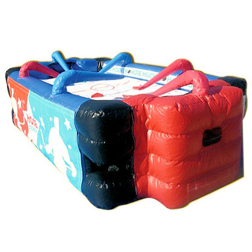 Hose Hockey Interactive inflatable game bounce house moonwalk party rental michigan