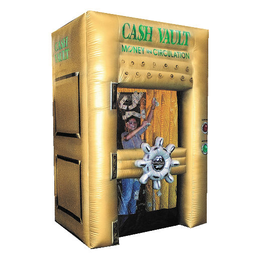 Inflatable Cash Vault money machine rental detroit michigan