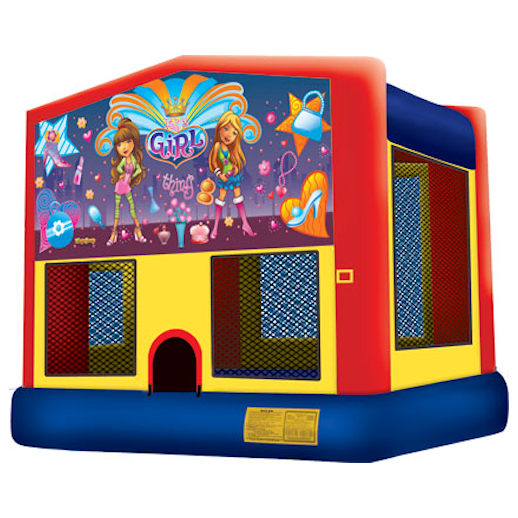 Its a Girl Thing inflatable bounce house moonwalk party rental michigan