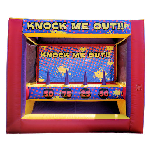 Knock Me Out toss carnival game inflatable interactive bounce house moonwalk party rental michigan