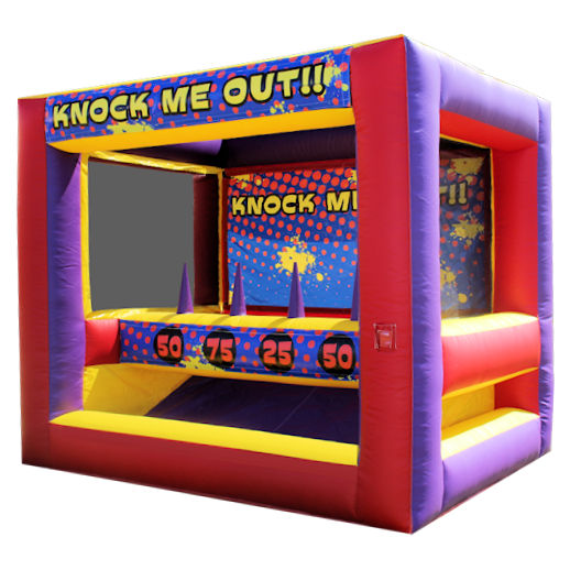 Knock Me Out toss carnival game inflatable interactive house moonwalk party rental michigan
