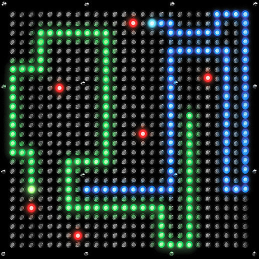 Pixel Play giant LED Snake Arcade carnival game party rental michigan