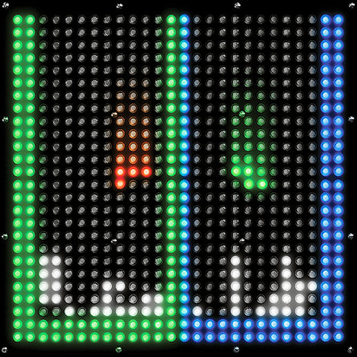 Pixel Play giant LED tetris Arcade carnival game party rental michigan