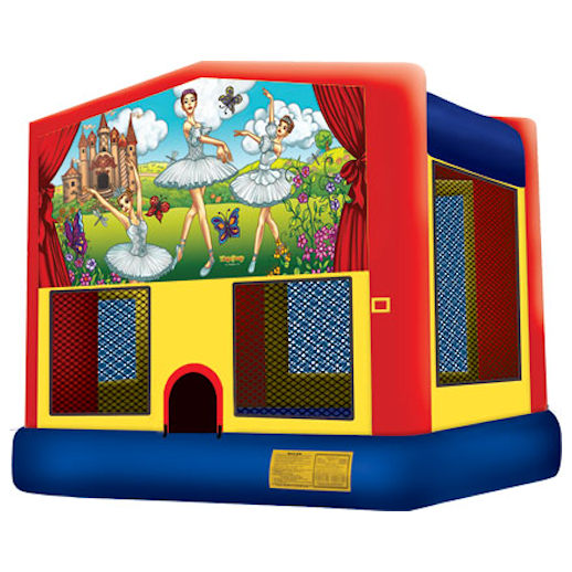 Lil Ballerinas inflatable bounce house moonwalk party rental michigan