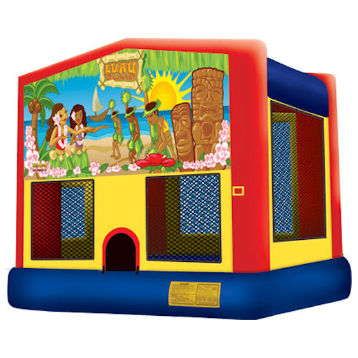 Luau inflatable bounce house moonwalk party rental michigan