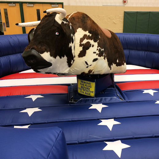 Mechanical Bull rodeo bull carnival ride Rental Detroit Michigan