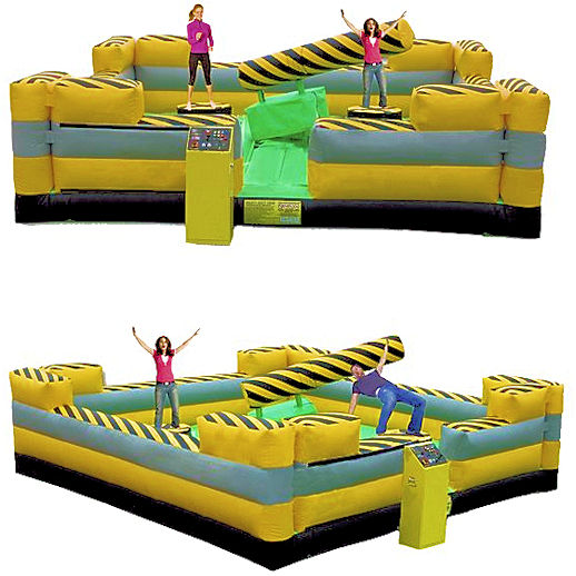 Mechanical Meltdown Zone Redneck games Interactive carnival ride party rental detroit michigan