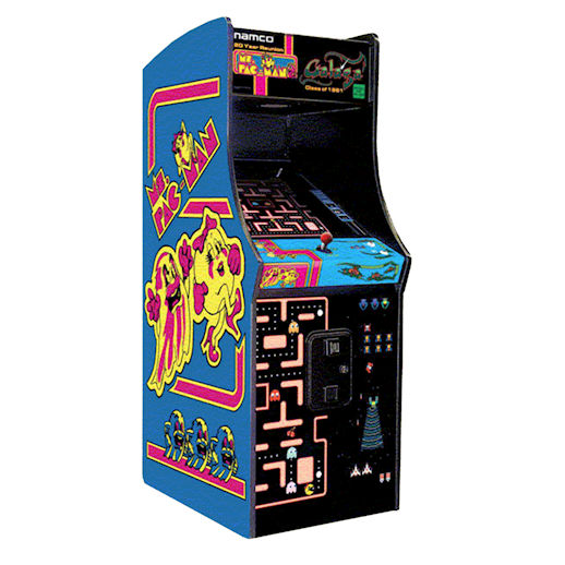 Ms Pac-Man Pac Man Galaga 20th Anniversary Reunion Edition Classic Arcade Game Rental Michigan
