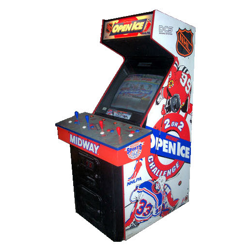 Open Ice 2 on 2 Hockey Arcade Game Rental Michigan