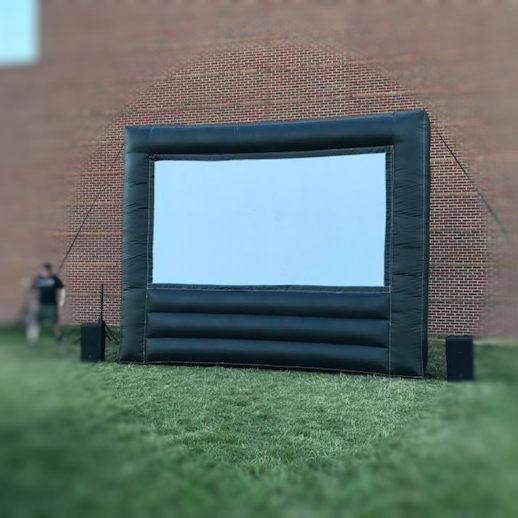 Outdoor movie screen inflatable rental michigan