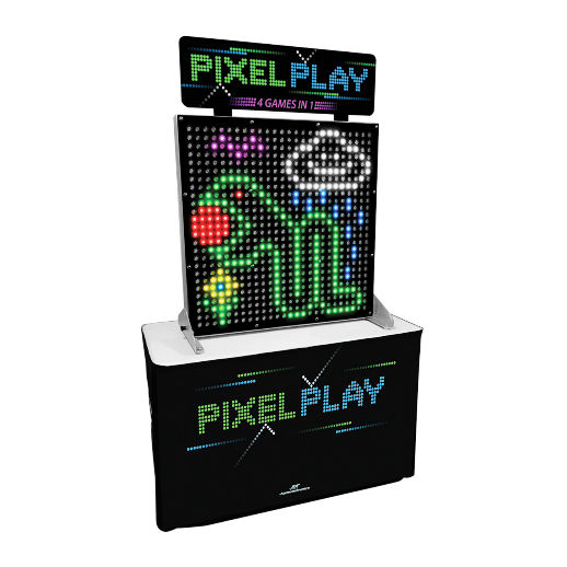 Pixel Play giant LED Arcade carnival game party rental michigan