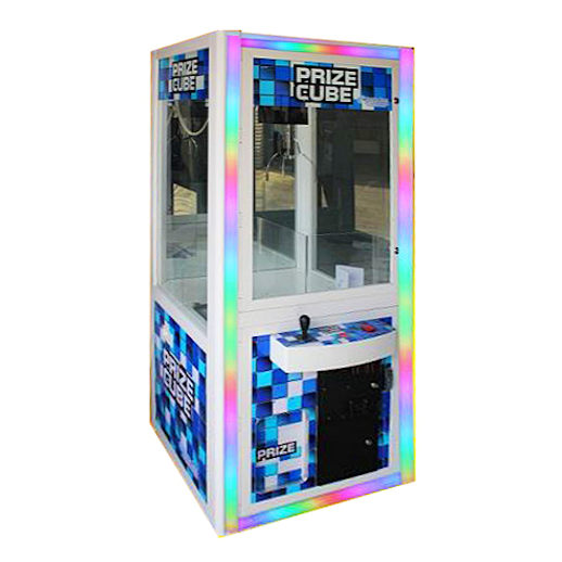 Prize Cube LED crane arcade claw machine rental michigan detroit