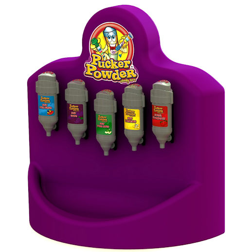 Pucker Powder mini 5 flavor machine purple concession party rental mchigan