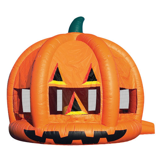 Pumpkin Moonwalk bounce house rental michigan