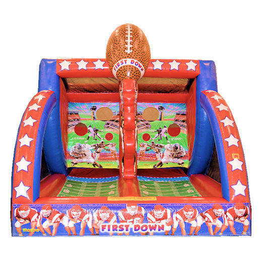 QB Blitz First Down Football inflatable interactive game party rental michigan