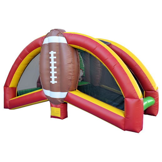 Quarterback Challenge Double Football Throw interactive inflatable game rental michigan