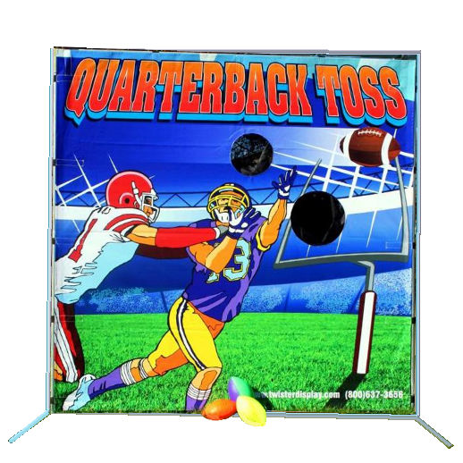 Quarterback Toss Frame Carnival Game Rental in Michigan