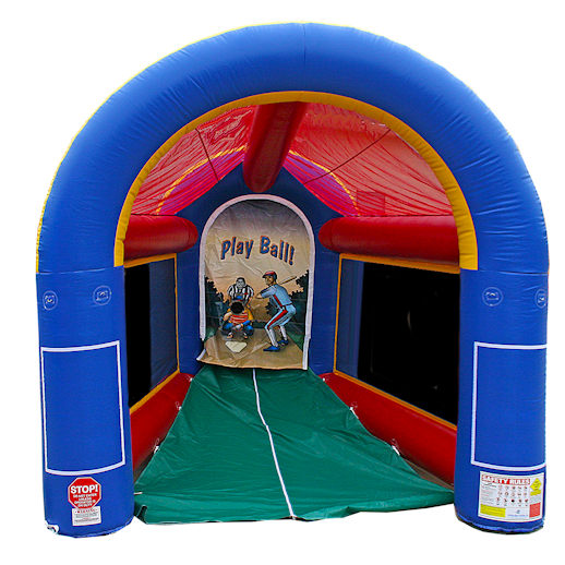 Radar Baseball Speed Pitch cage Interactive inflatable bounce house moonwalk party rental michigan