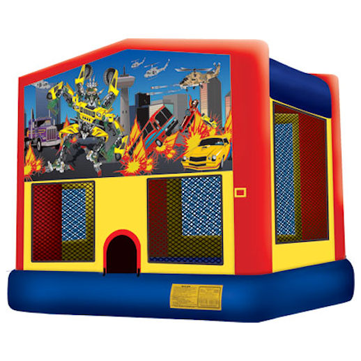 Robo Car Transformers inflatable bounce house moonwalk party rental michigan